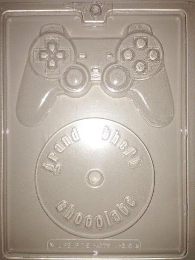One of our most popular molds is this Game Controller with Disk.