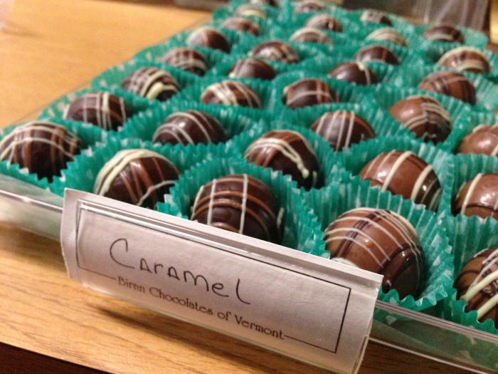 Delicious chocolate and gooey caramel come together in this classic truffle flavor.