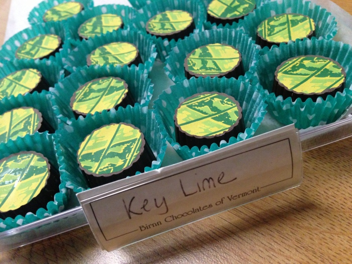 Key lime truffles bring together the flavor of the islands with decadent dark chocolate.