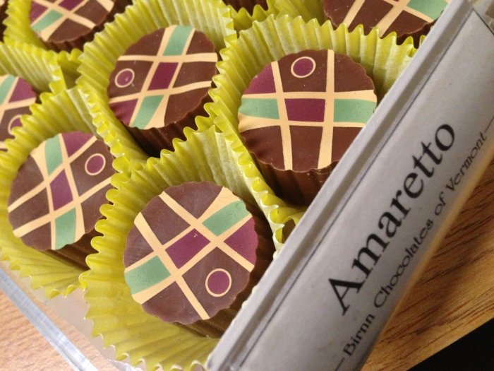 That same almond flavor you love in your coffee is available in a much sweeter form in these amaretto truffles.
