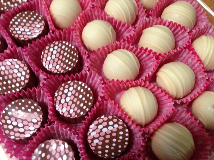 Treat yourself with a box of bubbly champagne truffles.