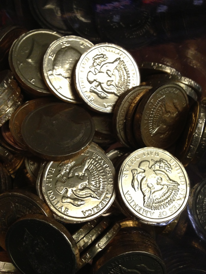 Always popular with the kids, chocolate coins are just one of the many novelty candies you'll find at Lori's Candy Station.
