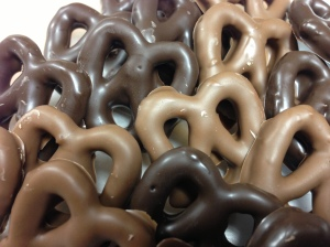 Chocolate covered pretzels have been a staple at the store since it opened.