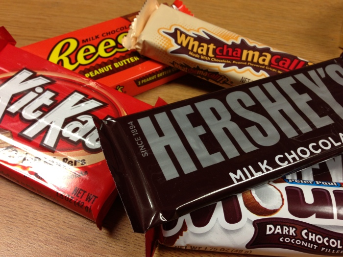 Just a sampling of some of the many Hershey products you'll find at Lori's Candy Station