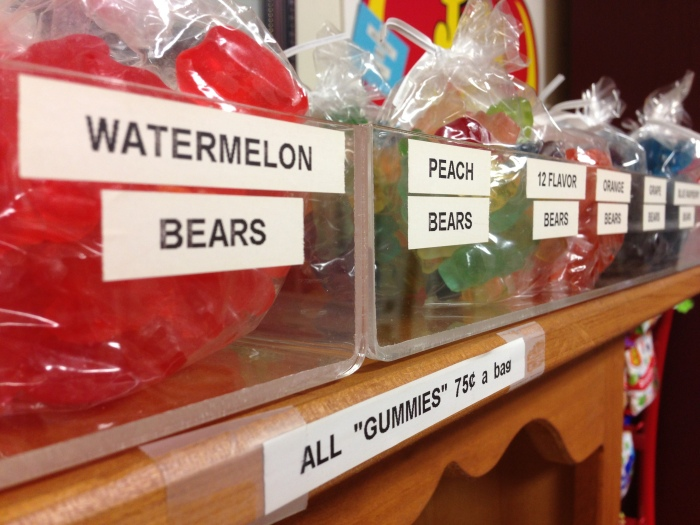 Albanese famous 12-flavor gummi bears are available as individual flavors or assorted.